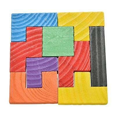 Wooden Tangram Brain Teaser Puzzle Tetris Game Educational for Kids