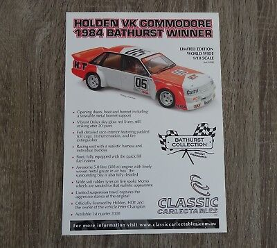 Classic Carlectables, VK Commodore, 1984 Bathurst Win, Semi Gloss Stock Exclnt
