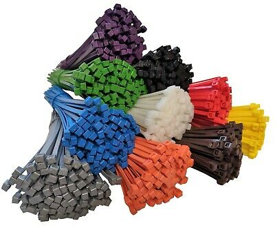 100 CABLE TIES - All Sizes & Colours - UK MANUFACTURED
