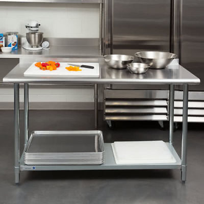 "NEW Commercial 24"" x 60"" Stainless Steel Work Prep Table With Backsplash Kitchen"