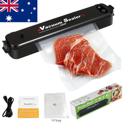 AU Automatic Food Vacuum Sealer Saver Packing Sealing Machine+Vacuum Storage Bag