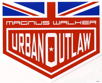 Magnus Walker Urban Outlaw Sticker British Flag, Aufkleber