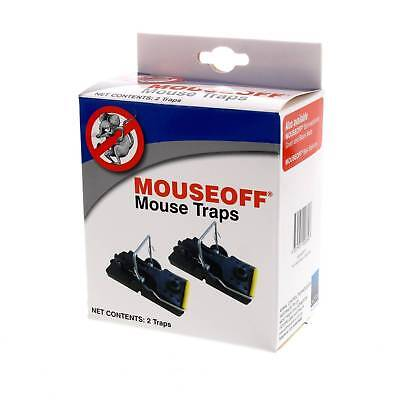 Mouse Trap 2 Pack Mouseoff Solid Plastic Base Hard Snapping Trigger Mechanism