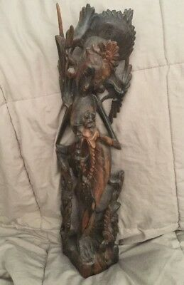 Carved Wooden Statue