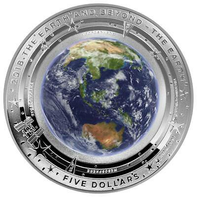 Australien 5 Dollar 2018 - Earth and Beyond - Erde (1.) Gewölbt - 1 Oz Silber PP