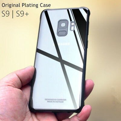 Original For Samsung Galaxy S9 Plus Plating Clear PC Hrad Case Clear Back Cover