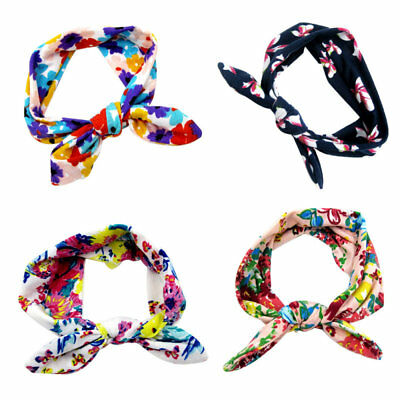 Baby girls Tie Knot Headband Knitted Cotton Children Girls elastic hair bands