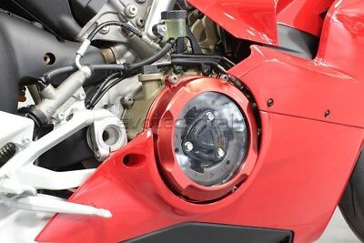 Evotech Abdeckung Sump Kupplung Rot Schwarz Clutch Cover Ducati Panigale V4