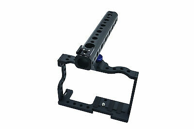 GX85 DSLR Rig Top Handle Grip Leather Strap Cage For Panasonic GX85 4K Camera