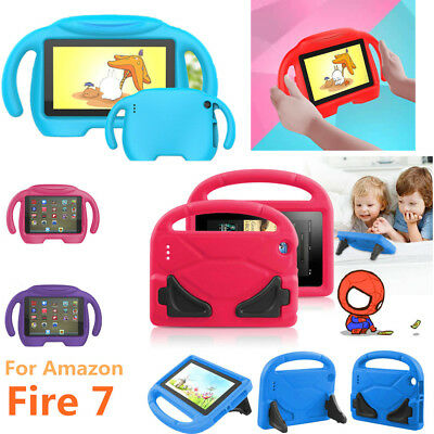 7'' Kids EVA Foam Handle Case Cover Stand For Amazon 2017 Fire 7 Tablet W/ Alexa