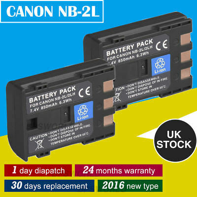 2x Battery for Canon NB-2L NB-2LH Canon EOS 350D 400D PowerShot G9 Charger
