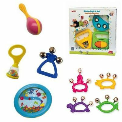 Halilit Baby Toddler Musical Instruments Gift Sets, Maracas, Drum, Bells & More