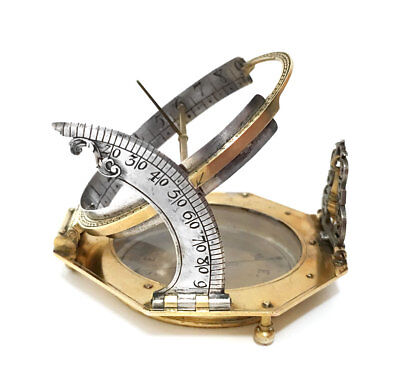 Silver and Gilt-Brass German Augsburg Aequatorial Sundial By JOHANN WILLEBRAND