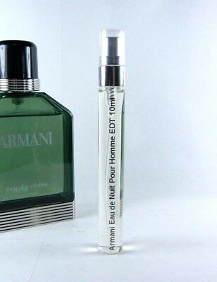 e89e9e6fe0d Giorgio Armani Eau de Cedre Pour Homme 10ml Travel SAMPLE Spray Men's EDT