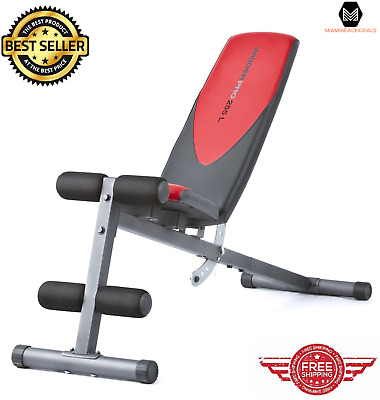 Adjustable Bench Press Flat Incline Decline Weight Gym Workout Fitness Exercise