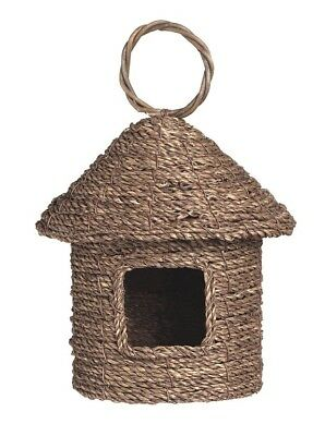 Natural Seagrass Roosting Pocket Hanging Bird House Nest Feeder Eco Friendly