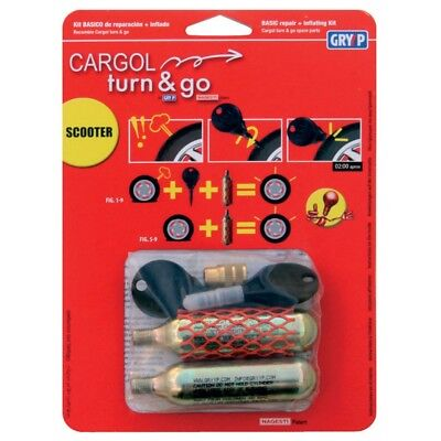 Oxford Motorcycle Cargol Turn & Go Emergency Tyre Puncture Repair Kit 2 K006 T