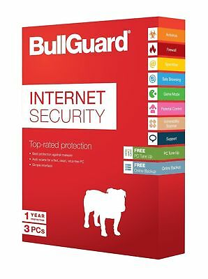 Download BullGuard 2019 Internet Security 3 Users 1 Year Genuine Licence PC Key