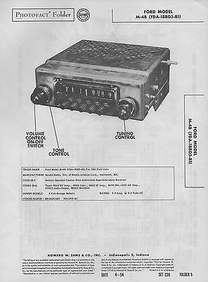 1956 ford 66mfp auto radio service manual fdr 18805 b1 photofact rh picclick com 1956 Ford Owners Manuals 1995 Ford Manual