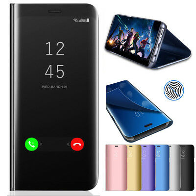 Luxury Touch Mirror Smart Flip Stand Case Cover For Samsung Galaxy S9 Plus Note9