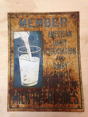 Vintage American Dairy Association and Council Farm Dairy Advertising SIGN