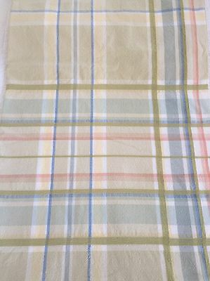 COUNTRY Cottage Plaid SHOWER CURTAIN Beach Shabby Chic
