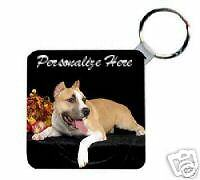 American  Staffordshire  Personalized  Breed  Key Chain