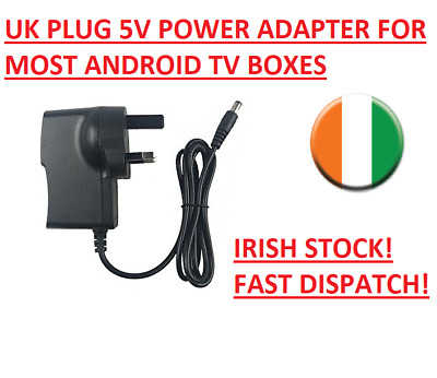 5V2A AC Adapter CE UK Power Supply For Most Android TV Box MXQ V88 M8 M8S X96