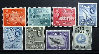 ADEN 1964 SG78-85 Cat £49 Mounted Mint NF236
