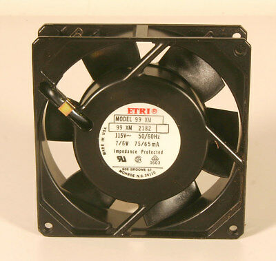 "Fan - ETRI Model 99 XM  115V, 50/60Hz - 3 5/8"" Sq x 1"""