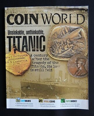 Coin World Magazine 2012 April Vol.53 Issue 2712 World Coins Paper Money