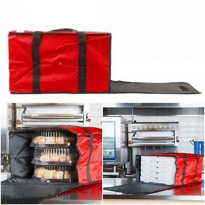 "3 PACK Insulated Catering Pizza Food Delivery Carrier Bag Box Red 20"" 18"" 16"""