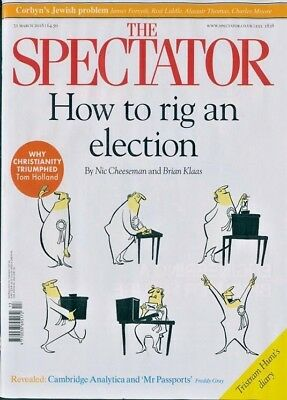 THE SPECTATOR MAGAZINE 31st MARCH 2018 ~ HOW TO RIG AN ELECTION ~ NEW ~