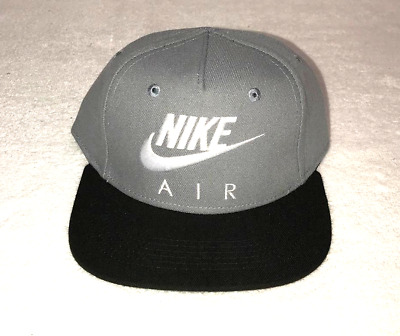 625d696e586 Nike Air Snapback 4 7 Kids Youth Adjustable Hat Cap Grey White 8A2653 146