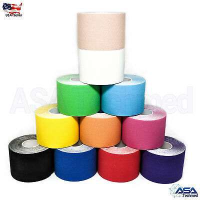 1 Roll 5m x 5cm Kinesiology Sports Muscles Care Elastic Physio Therapeutic Tape