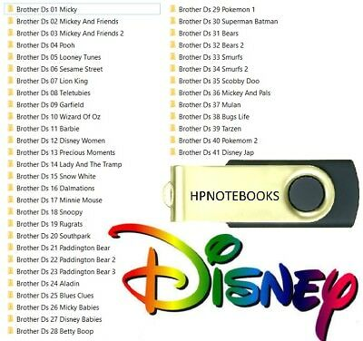 DISNEY CHARACTER EMBROIDERY Sets 1 To 41 Usb Drive Brother