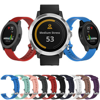 20MM Replacement Silicone Watch Bands Strap Bracelets For Garmin Vivoactive 3
