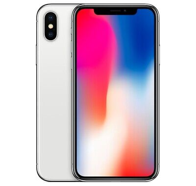 Apple iPhone X 64GB Factory Unlocked - Silver Smartphone Mobile A1865 64 10 iOS