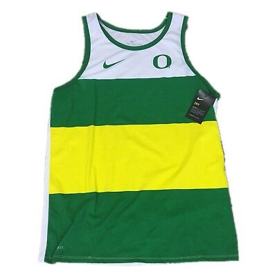 102f28cbc0ca42 NWT NEW Oregon Ducks Nike Men s Tri Blend Wide Dri Fit Tank Top Shirt XXL  2XL