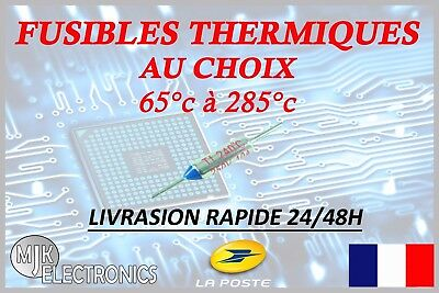 Fusibles Thermique / Cutoffs  / NEC RY 10A 250V / Thermal Fuse / 65°C - 285°C