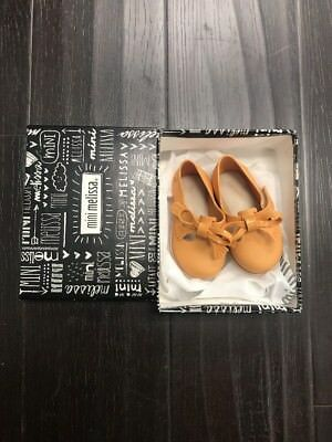Mini Melissa Classic Baby Mary Jane (Toddler) Yellow Beige Size 5 New In Box