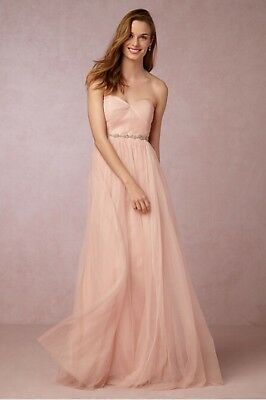 c0def96a86c0 BHLDN Jenny Yoo Annabelle Convertible Tulle Bridesmaid Dress Blush Pink - Size 12