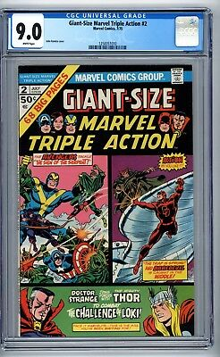 Giant-Size Marvel Triple Action #2 CGC 9.0 The Challenge of Loki phl1