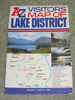 A-Z Visitors' Map of the Lake District by Geographers' (folded sheet map 1998)