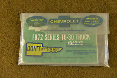 1972 Series 10-30 Truck Owner's Manual with Emission Control Chevrolet Chevy