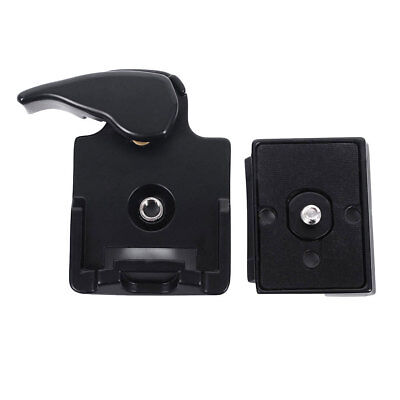 323 Quick Release Clamp Adapter For Camera Tripod with 200PL-14 QR Plate black