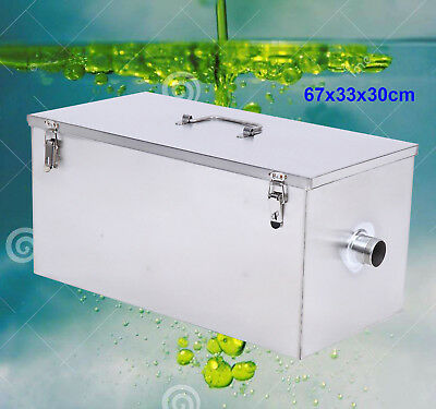 Commercial 25LB 13GPM Gallons Per Minute Grease Trap Stainless Steel Interceptor
