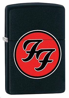 "Zippo ""Foo Fighters"" Black Matte Finish Lighter, Full Size,  29477"