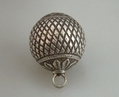 Antique Islamic Silver Orb Fob      51307