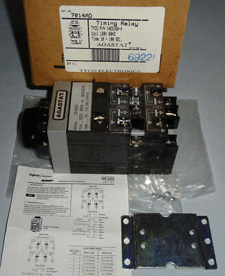 Agasta 7014AD Time Relay 120 VAC 10-100 Seconds Timing Relay NEW
